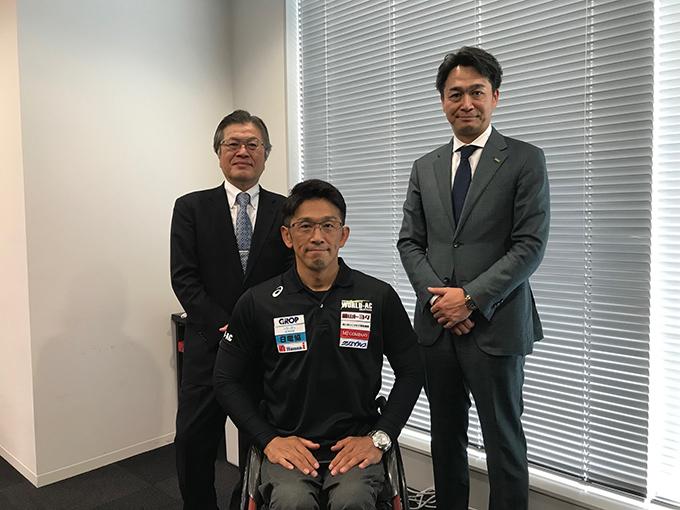 令和元年12月9日 ワールドアスリートクラブの松永選手兼監督が日電協に来組