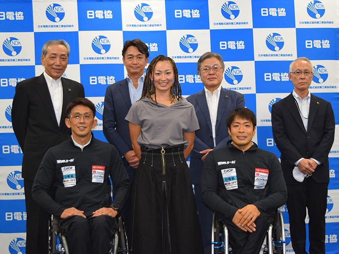 令和3年9月13日 パラリンピック出場の2選手が日電協に来組